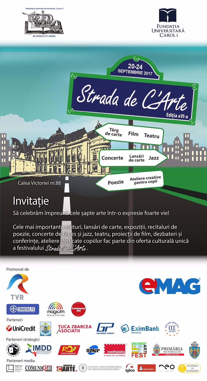 INVITATIE Strada de C'Arte 2017